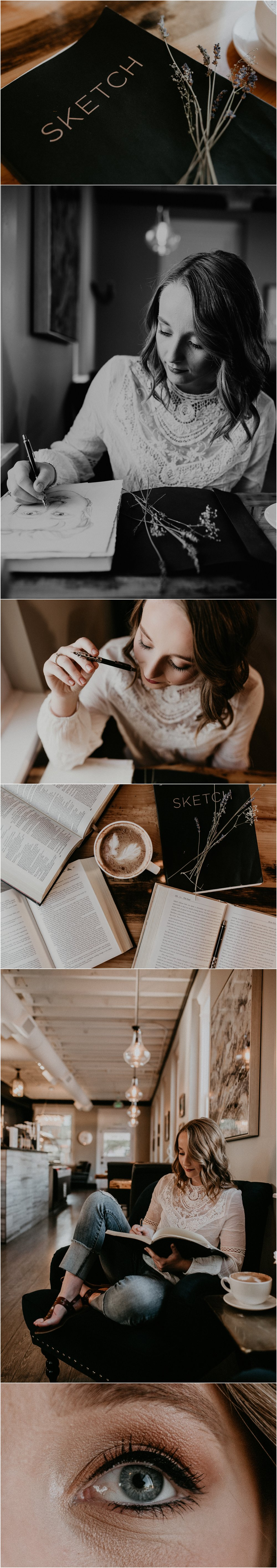 Makayla Madden Photography Boise Senior Photographer Eagle Idaho Brim Coffee House Sketching Artistic Senior Pictures Class of 2018