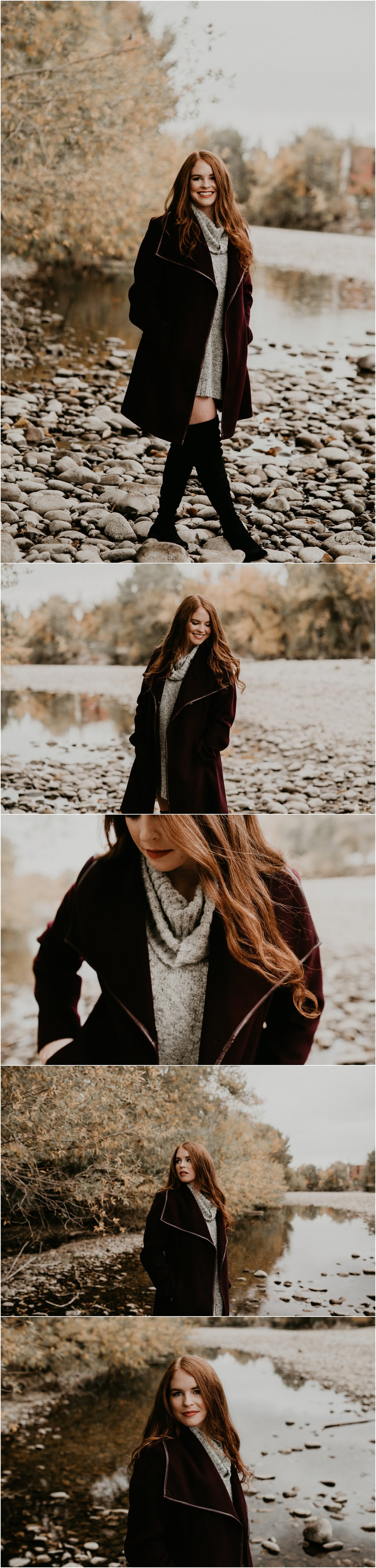Boise Senior Photographer Makayla Madden Photography Eagle High Senior Harlee Edwards Red Head Fall Downtown Boise Senior Pics Meridian Senior Photographer Fall Fashion