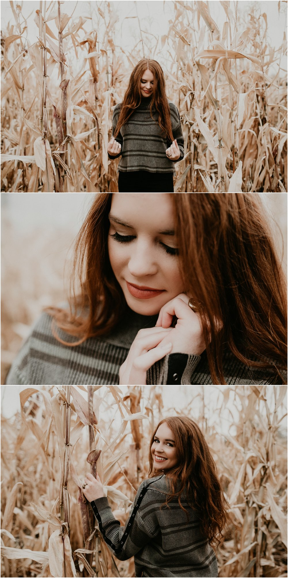 Boise Senior Photographer Makayla Madden Photography Eagle High Senior Harlee Edwards Red Head Fall Downtown Boise Senior Pics Corn Field Farmstead Meridian Senior Photographer