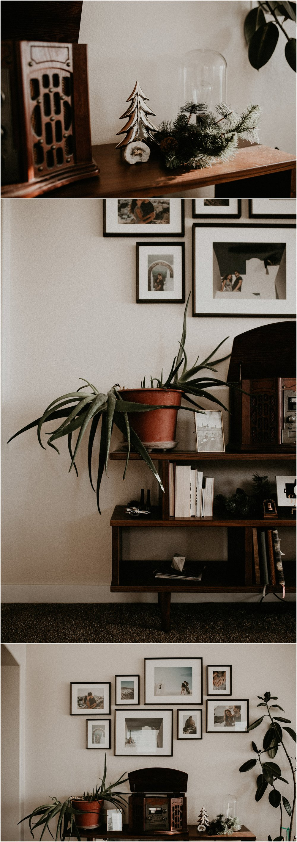 Boise Boudoir Photographer Boise Senior Photographer Makayla Madden Photography Mid Century Modern Ashlyn Bookshelf World Market Aloe Plant Record Player Vinyl