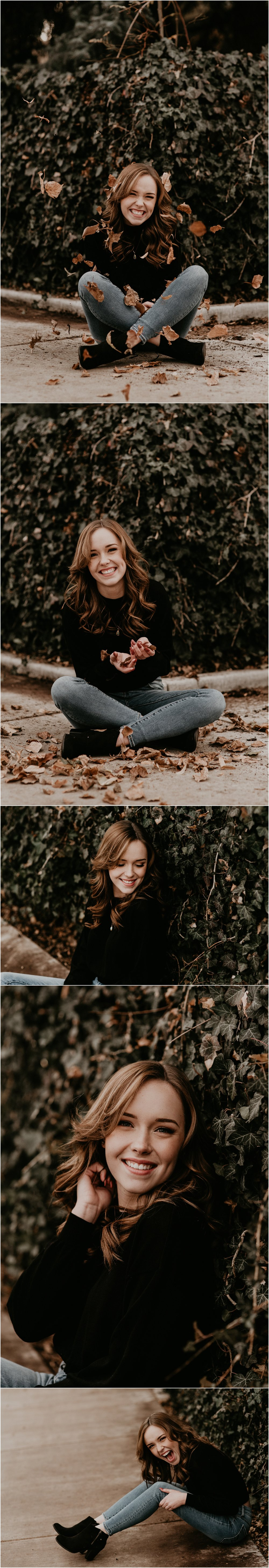 Boise Senior Photographer Makayla Madden Photography Downtown Boise Hyde Park Senior Session Boise Photography Spot Graduate Fun Urban Senior Picture Outfit Ideas Fall Senior Session