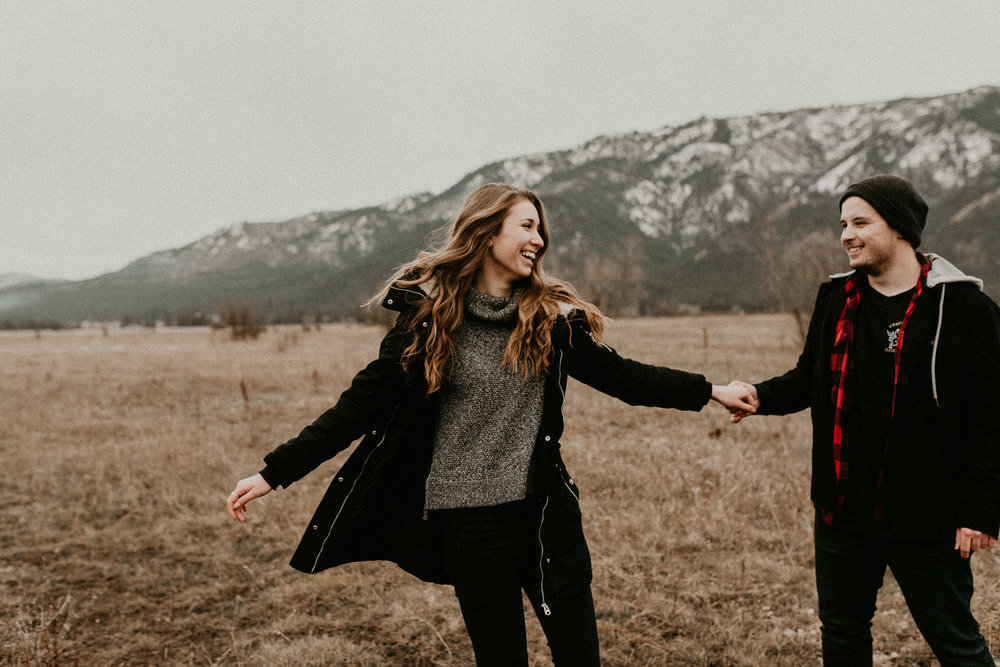 Boise Wedding Photographer Makayla Madden Photography Engagement Mountains Adventure Portraits Raw Real Candid