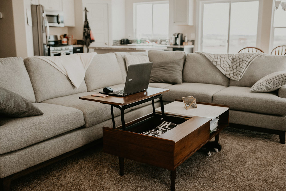 Boise Boudoir Photographer Boise Senior Photographer Makayla Madden Photography Mid Century Modern Living Room Decor Ideas Target West Elm Coffee Table