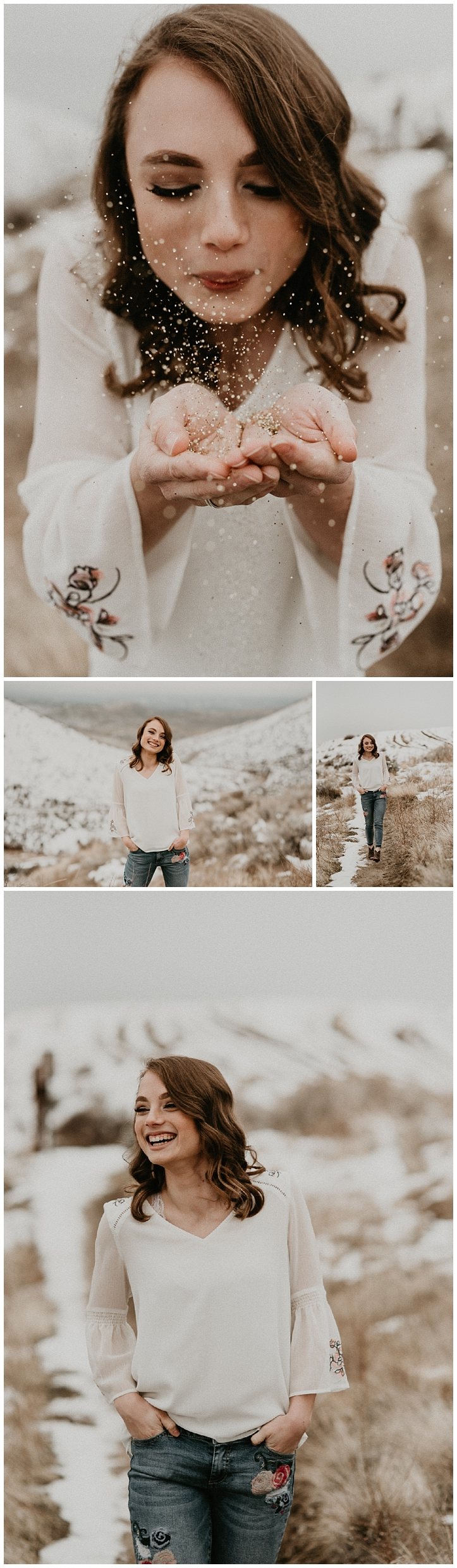 Boise Senior Photographer Meridian Photographers Makayla Madden Senior Pictures Confetti Graduation Idaho Foothills
