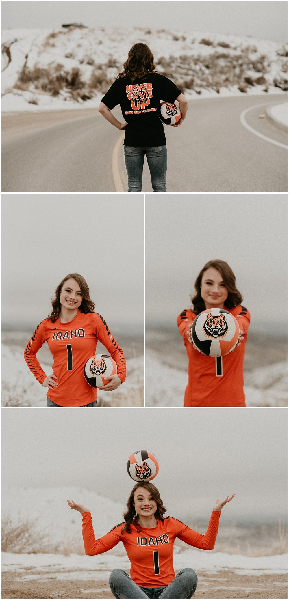 Boise Senior Photographer Meridian Photographers Makayla Madden Senior Pictures Graduation Volleyball Sports Never Give Up Motivation