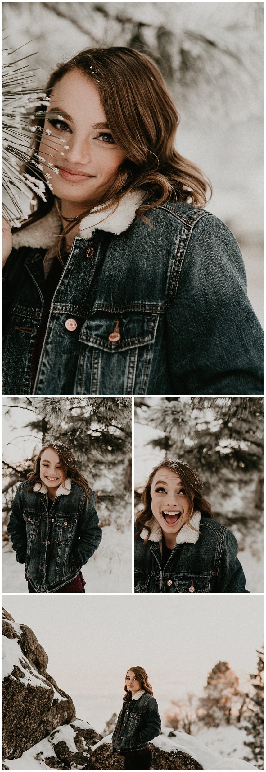 Boise Senior Photographer Meridian Photographers Makayla Madden Senior Pictures Bogus Basin Mountain Ski Resort Worship Faith Adventure Mountains Portraits Winter Senior Session Snow