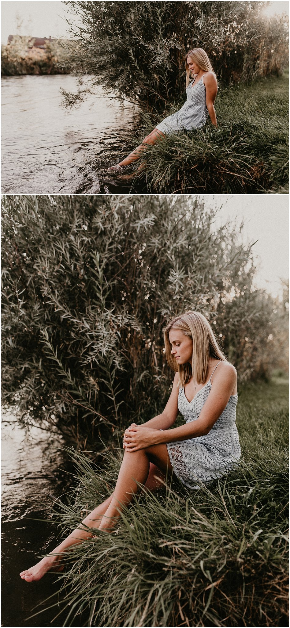 Boise Senior Photographer Makayla Madden Photography Kuna River Summer Senior Pictures Dress Outfit Ideas Beautiful Class of 2018