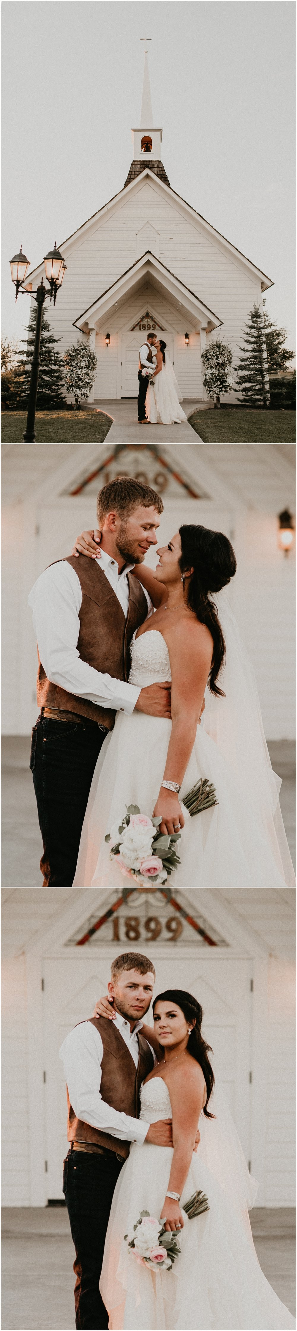 Boise Wedding Photographer Makayla Madden Photography Still Water Hollow Boise Wedding Venue Country Chic Rustic Bride and Groom Idaho Bride Summer Wedding Bridal Portraits Idaho White Chapel