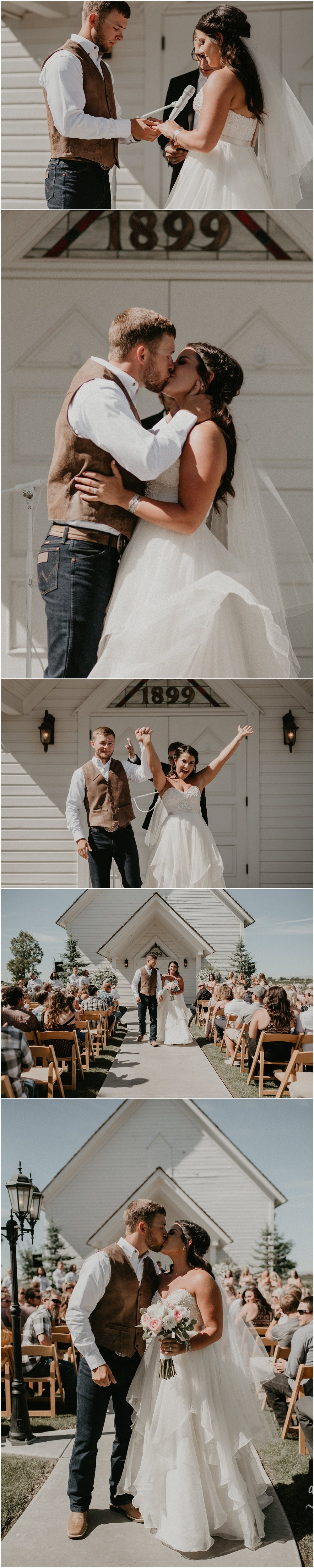 Boise Wedding Photographer Makayla Madden Photography Still Water Hollow Boise Wedding Venue Country Chic Rustic Bride and Groom Idaho Bride Summer White Chapel