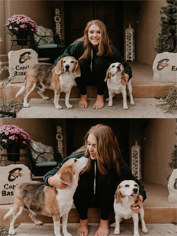 Boise Senior Photographers Makayla Madden Photography Idaho Senior Photographer Senior Girl Dogs Beagles Senior Pictures