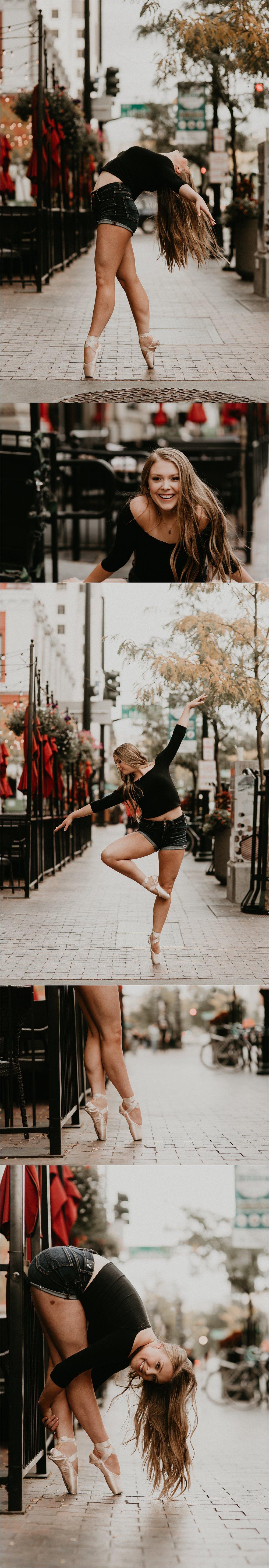 Boise Senior Photographer Makayla Madden Photography Senior Girl Capital High School Kailee Roberts Urban Dancing Senior Pictures Ballet Point Dance Senior Photos