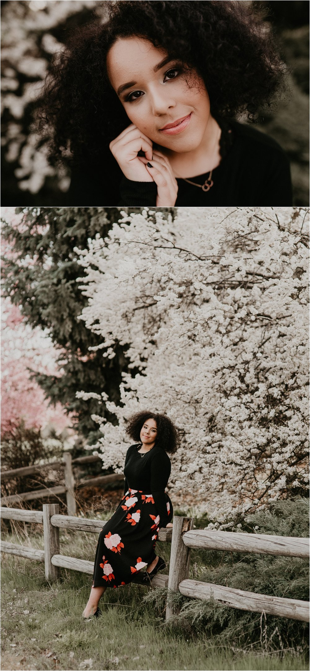 Boise Senior Photographer Makayla Madden Photography Spring Senior Pictures Class of 2018 Cherry Blossoms Idaho Location Spring Senior Outfit Meridian Photographer