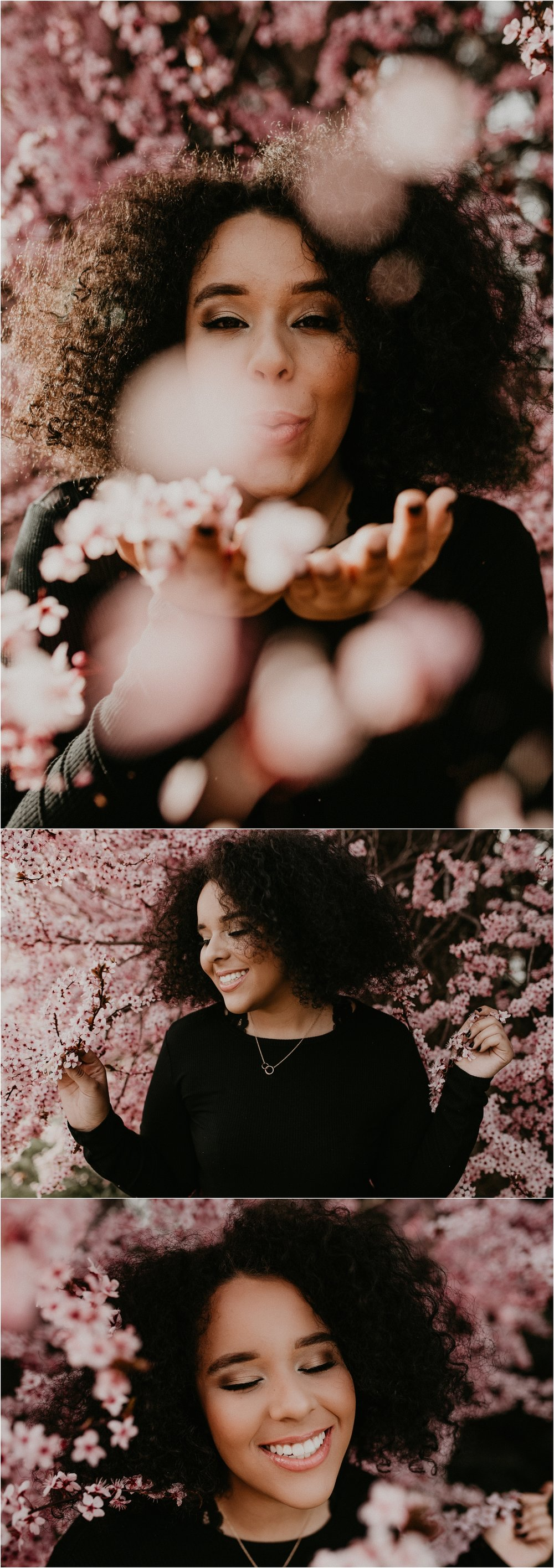 Boise Senior Photographer Spring Senior Pictures Class of 2018 Cherry Blossoms Idaho Location Spring Senior Outfit Meridian Photographer
