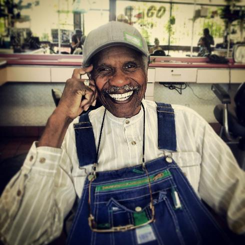 Mr. Paul Knauls, owner of Geneva's Shear Perfection on MLK. 11:45am. Photo by elizabethravine