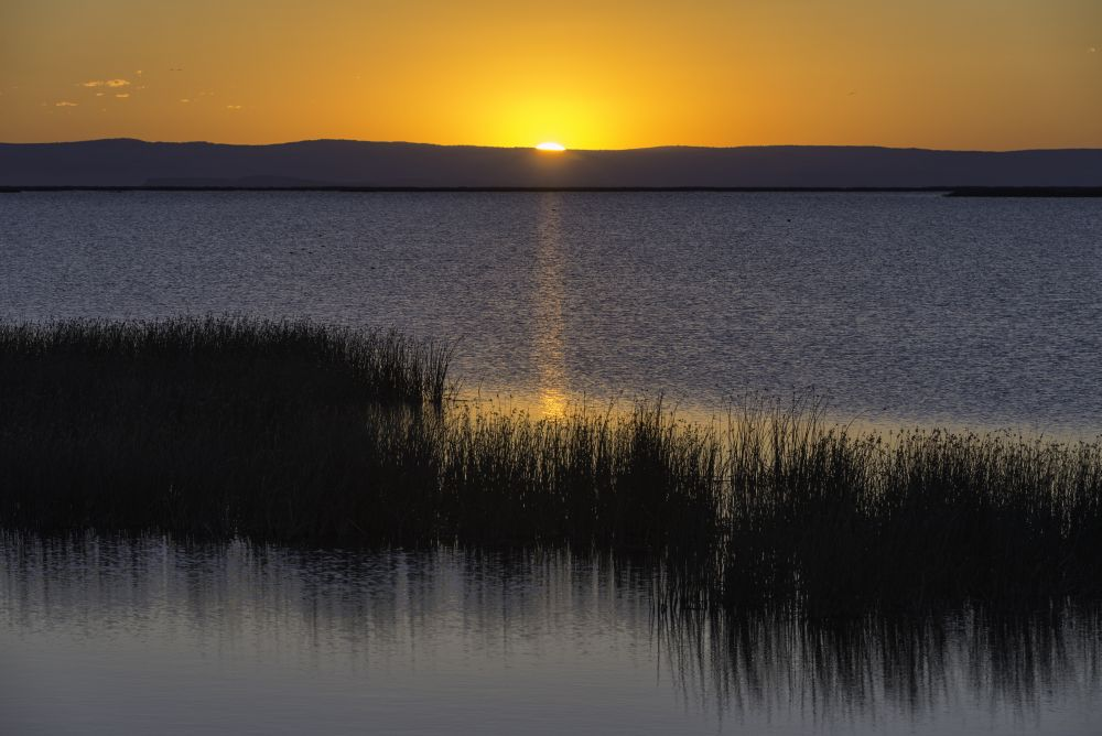 Sunrise at the Malheur National Wildlife Refuge, 30 miles from Burns.  Photo by Keith Skelton