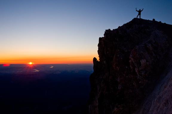 marbachp-Dick Arnold celebrates sunrise from summit of Mt Hood_1.jpg