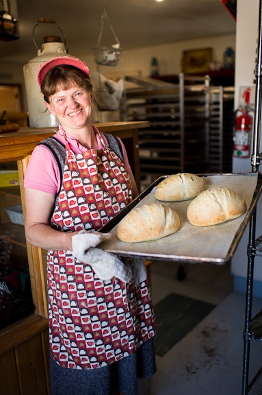 Deanna VanDoozer of Liberty Bakery in Joseph.  Photo by Erika Plummer