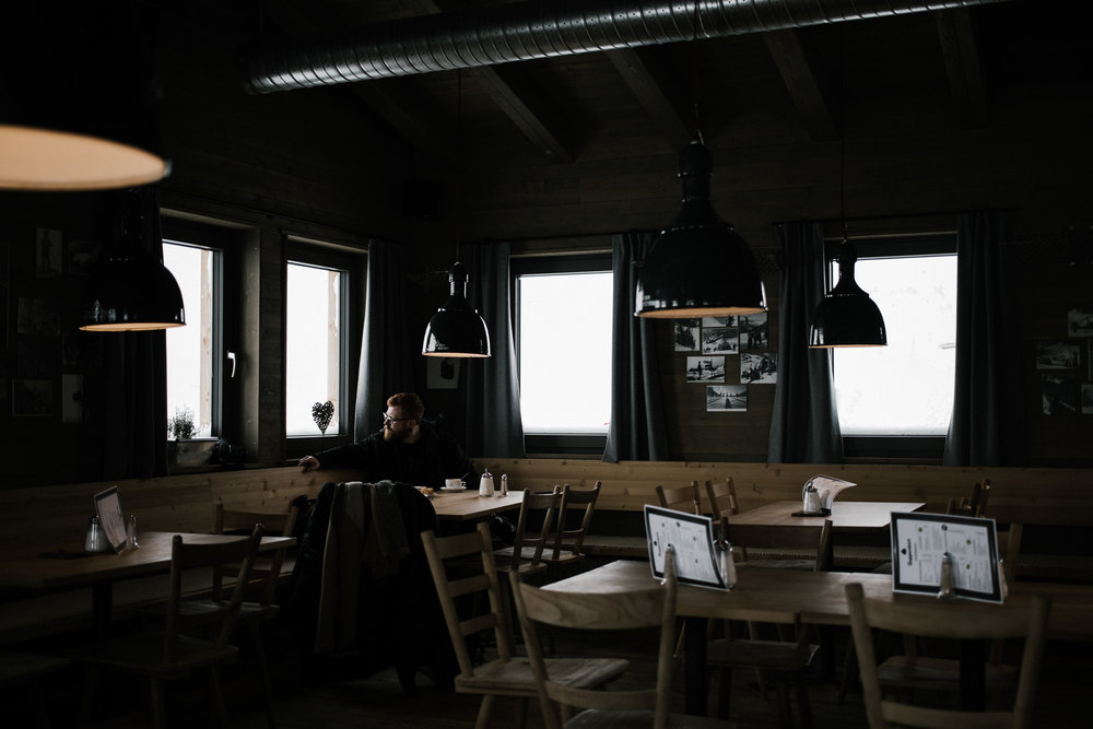 Cafe at the stop of Zugspitze