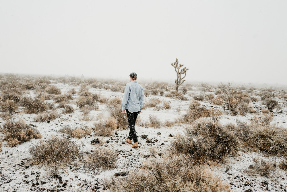 Snow in the Mojave