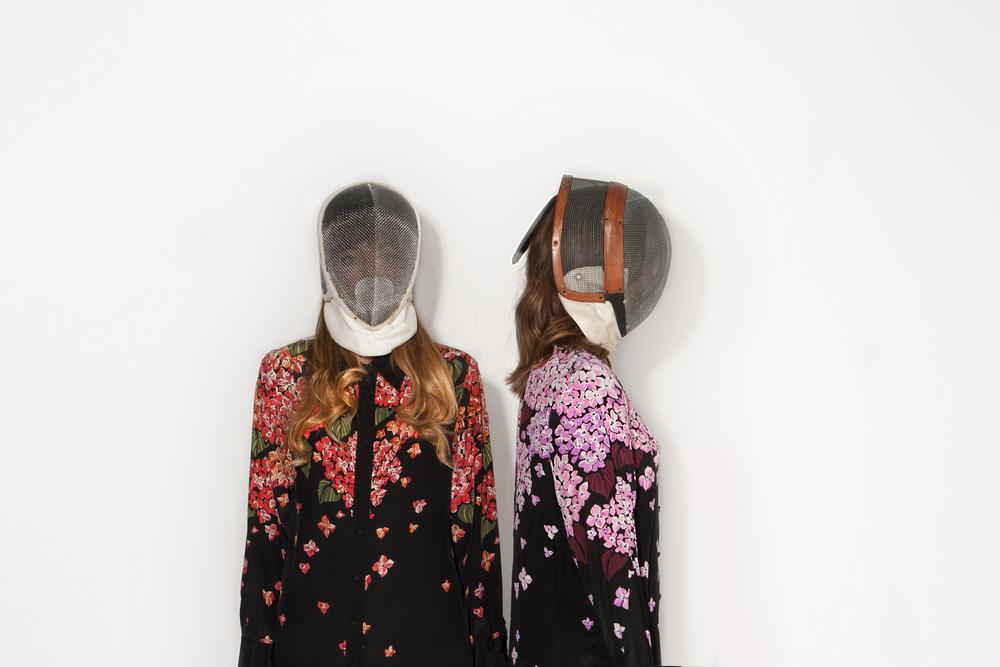 Bob Mackie Silk Floral Blouses