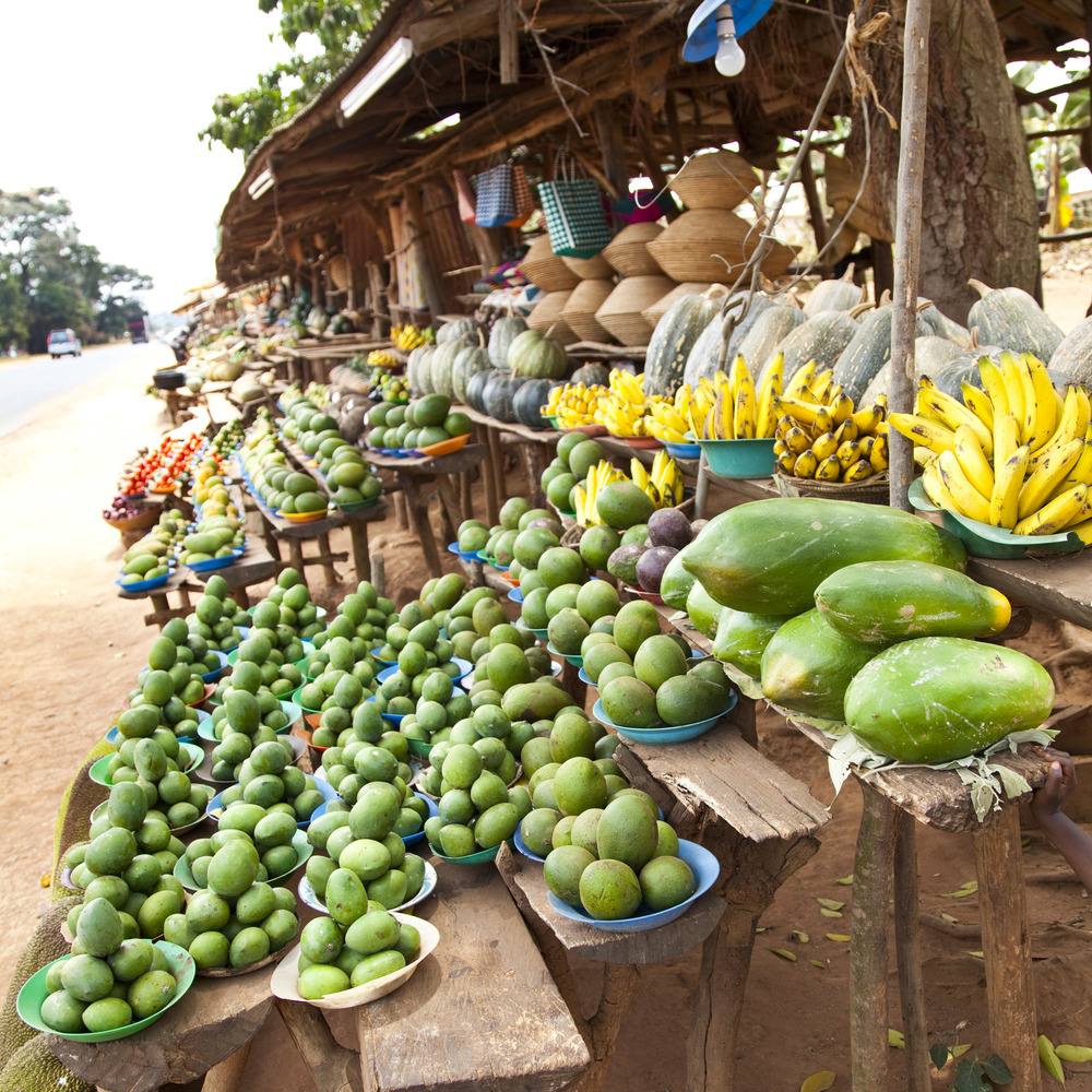 Fruit stand travel in Africa