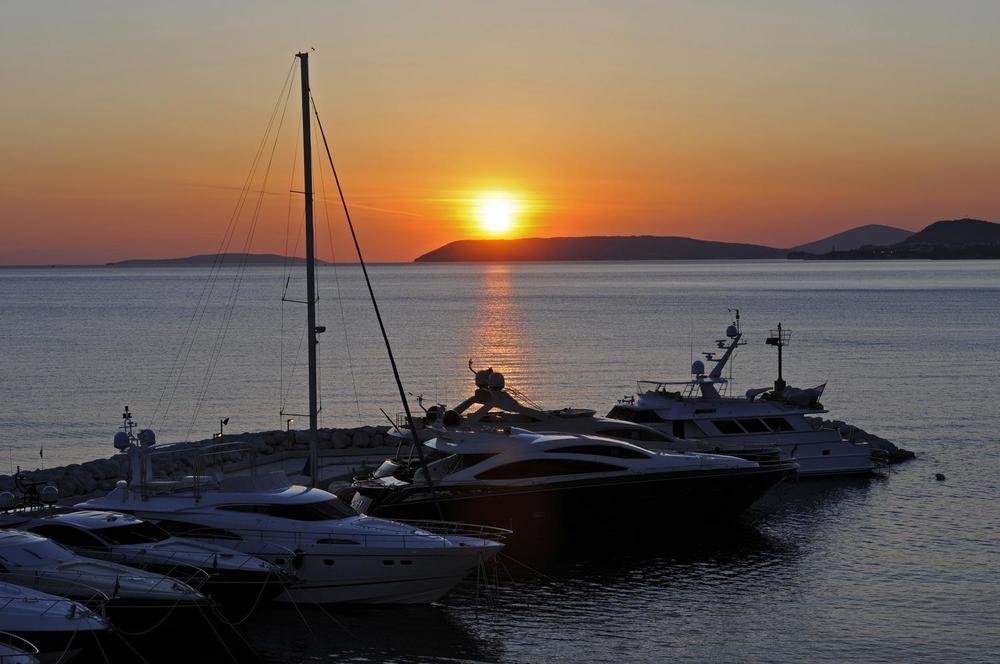 Sunset on croatia vacation