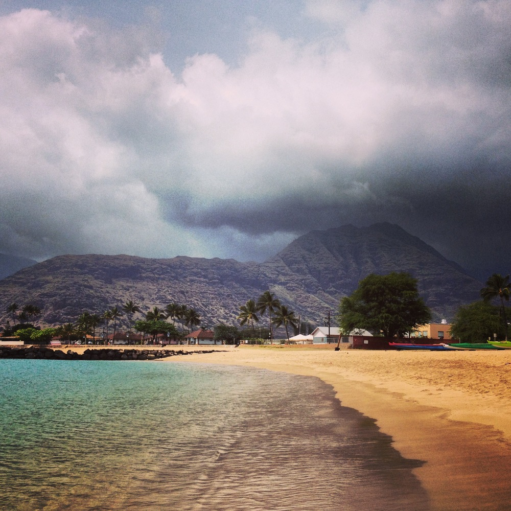 Pokai Bay, Oahu.  Heaven's beauty will FAR surpass this!