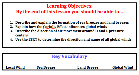 Local and Global Winds — Mr. Mulroy\'s Earth Science