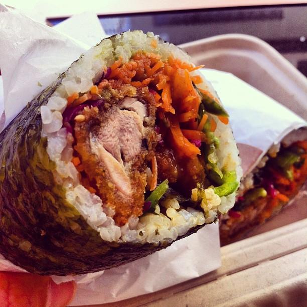 """""""Chipotle ain't shit!"""" - Mayan Chicken Katsu Sushirrito, San Francisco. Yeah. I know. LOOK. AT. IT."""