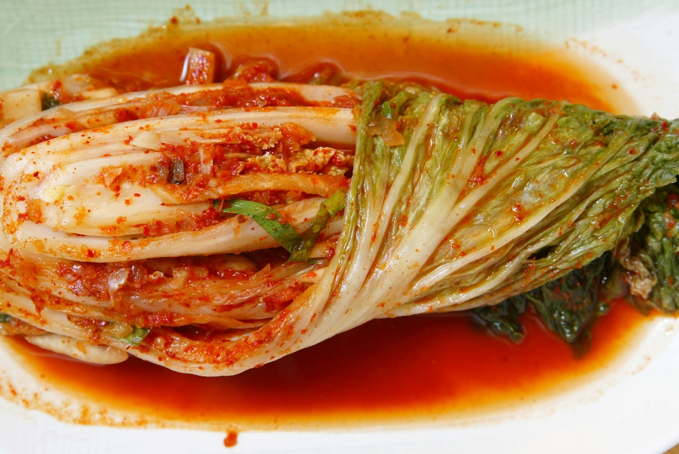 Spoiled...I mean...fermented spicy cabbage. Kimchi. It's delicious.  Photo: Oliver Tsang. Source:  http://www.scmp.com/news/asia/article/1351164/kimchi-south-koreas-pungent-cabbage-dish-gains-index