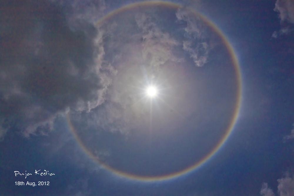 Rainbow Around The Sun. #Surat