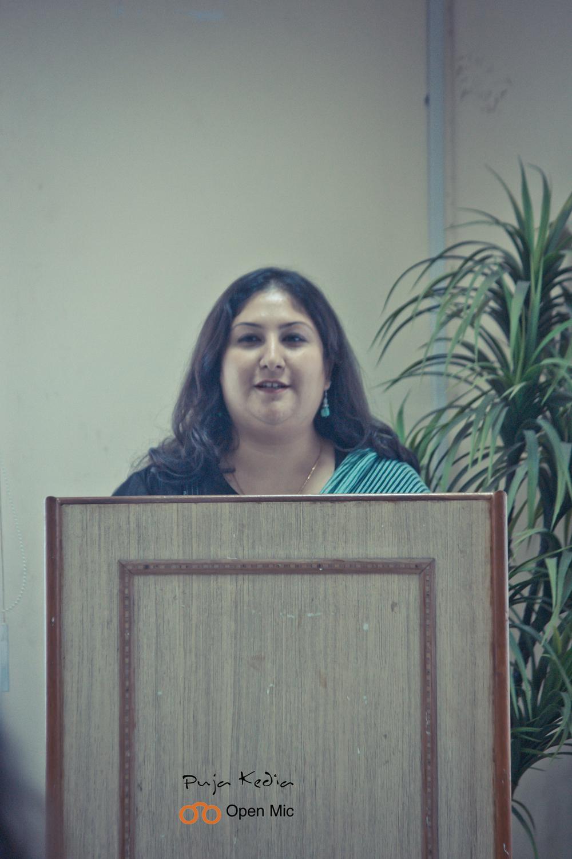 Manashni - Hostess For The Day. Bookoholics Open Mic