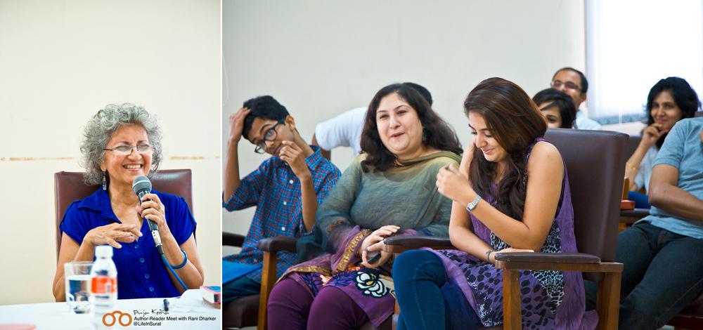 Manashni at Bookoholics Author Reader Meet.