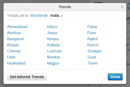 #Surat in the list of 21 cities getting Twitter trends