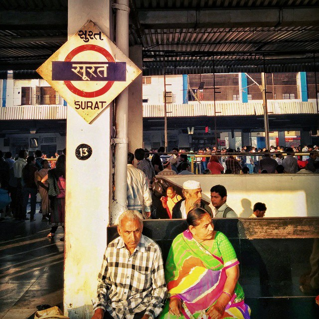 #Day2 -  Taking an early morning train to Mumbai. My work takes me frequently to various parts of the country and #Surat not having good airport connectivity does not make it any easier :l   #OneWeekInLifeOfAWeddingPhotographer  #Nexus5 #PersonalProject
