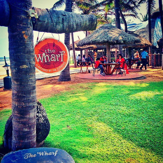 #Day3 - Lunch Venue for today. By the Bay of Bengal! Because only nature can season a meal with devouring flavors...  #TheWharf   #OneWeekInLifeOfAWeddingPhotographer   #ByTheBeach #DestinationWedding   #Mahabalipuram