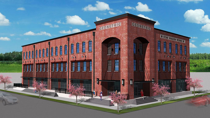 Our new home in NewBo! Vault will be joining Geonetric of their second floor in the spring of 2014.