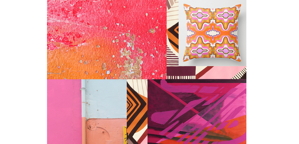 Pink & Orange Inspiration Board by Liz Nehdi