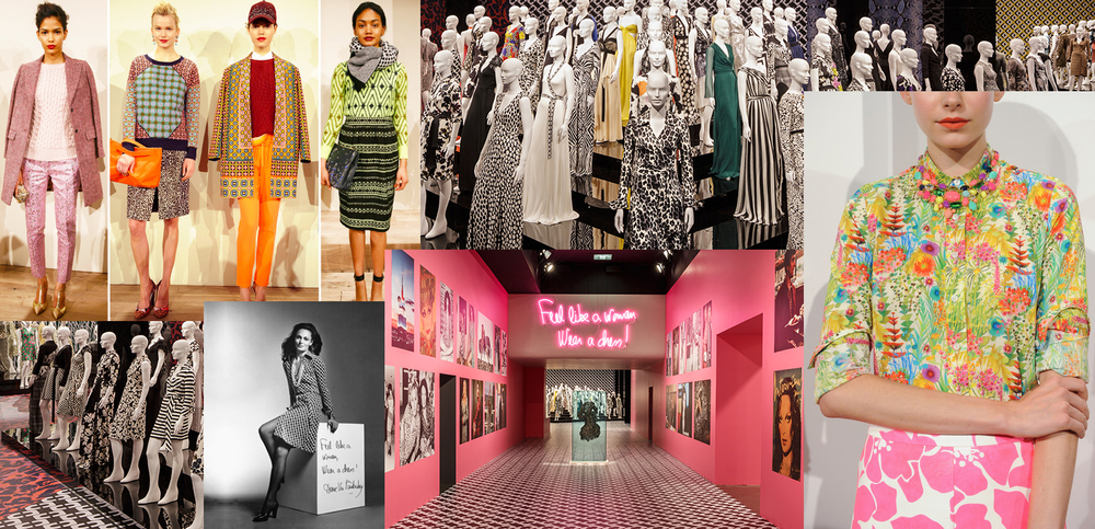 A collage of inspiration from DVF and J Crew: 2 of my favourite NY based designers