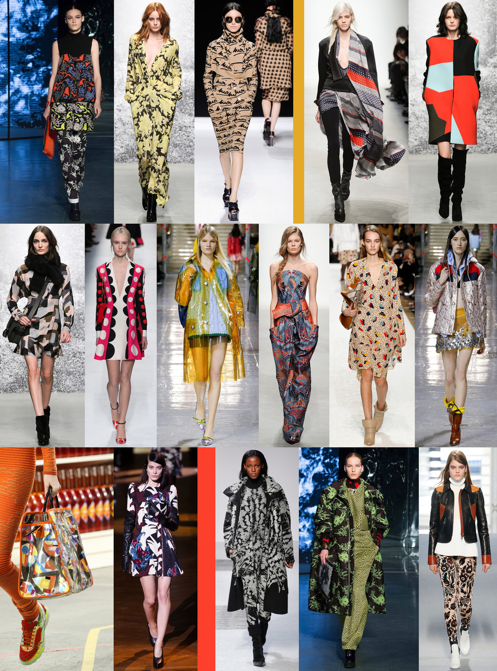 Liz Nehdi's favourite printed looks from Paris Fashion Week. Images: Style.com
