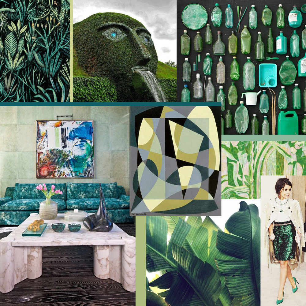Gorgeous Green collage by Liz Nehdi