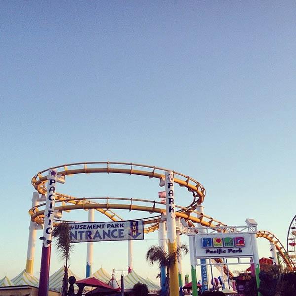 Retro rides at the Santa Monica pier