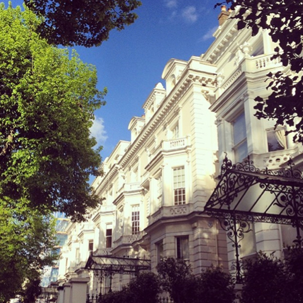 Regal houses in Holland Park