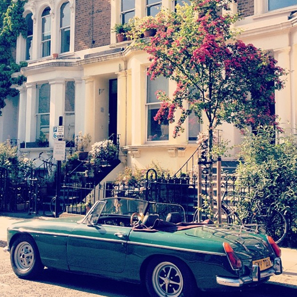 A classically cool MGB convertible