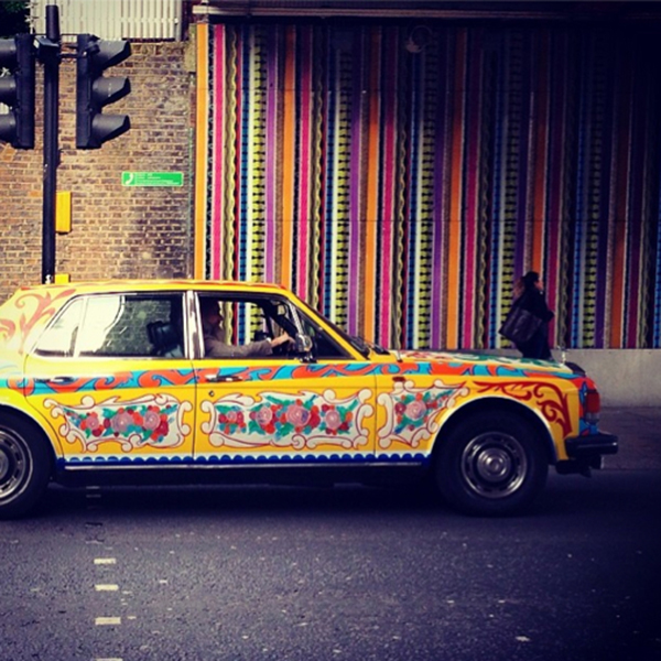 An homage to John Lennon's psychedelic Rolls-Royce