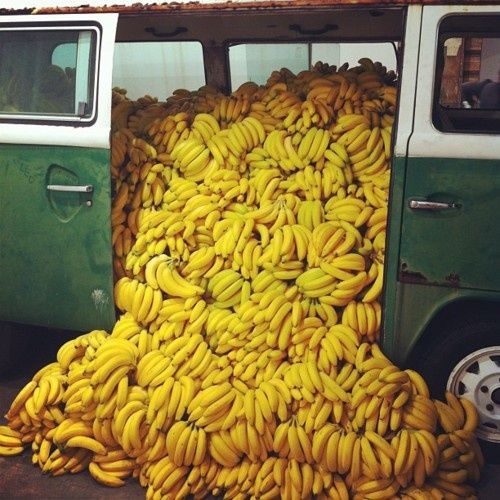 Bananas spilling out of a van via Matchbook: A Field Guide to a Charmed Life
