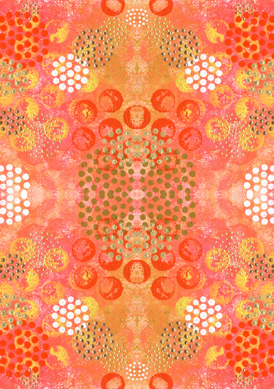 Orange Fizz by Liz Nehdi. Available as an art print or on products such as pillows and mugs via  Society6