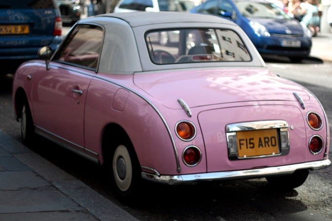 Pink Figaro car via Pinterest