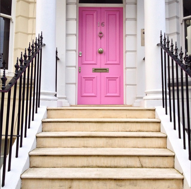 Pink Door, Notting Hill, via Liz's Instagram