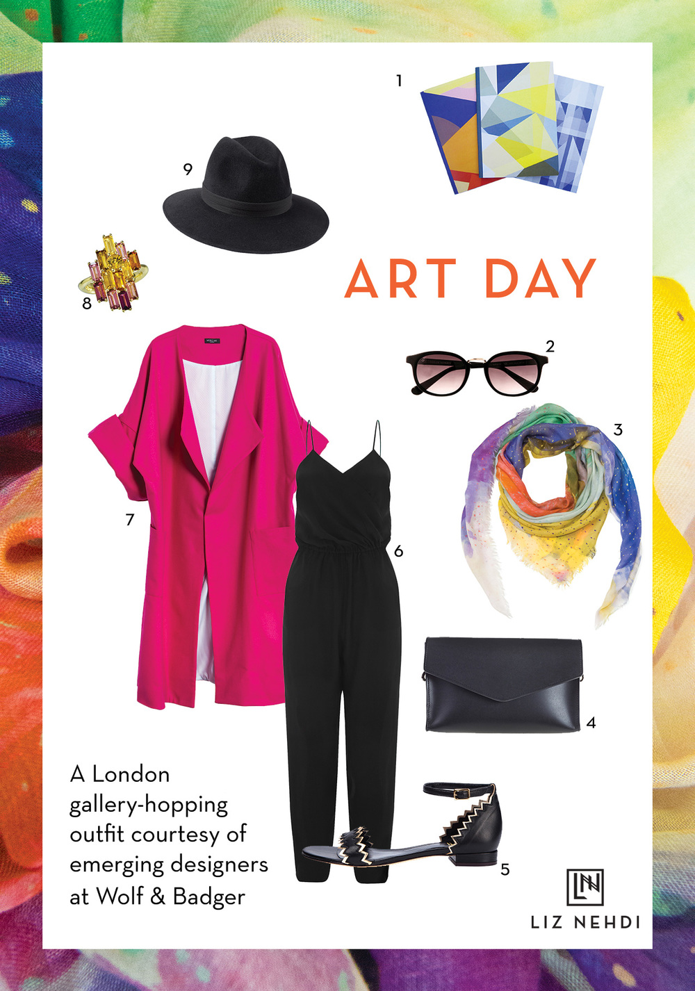 Art Day Collage by Liz Nehdi Studio, 2015. See below for product info